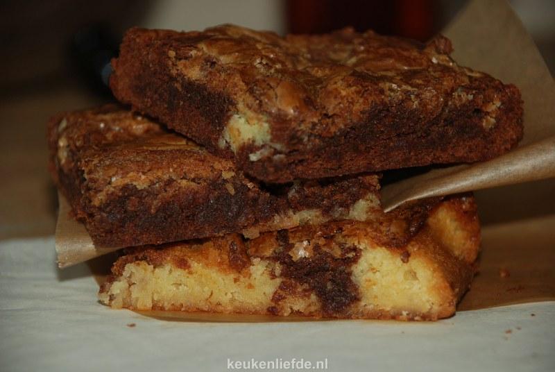 Twee kleuren brownies