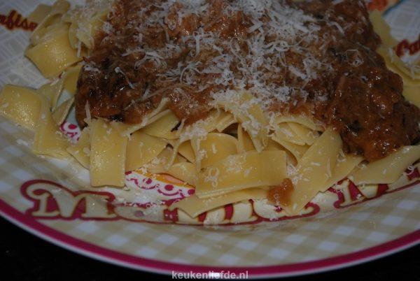 pasta met stoofvlees