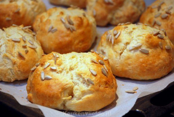 Ontbijtbroodjes met kwark