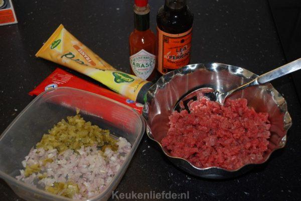 Zelf filet americain of steak tartare maken