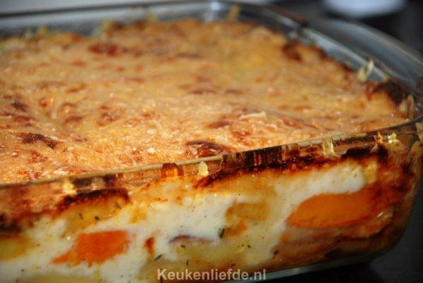 Lasagne met pompoen en pastinaak
