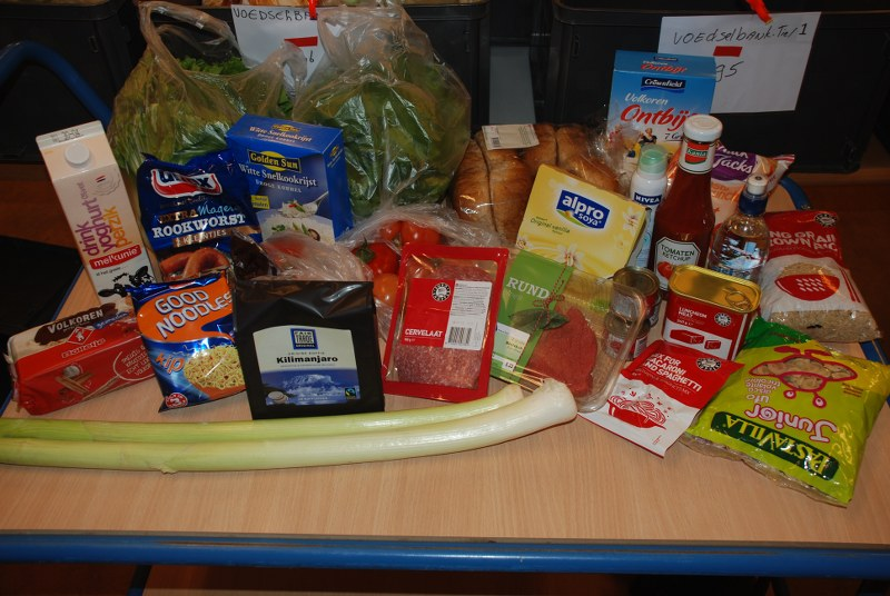 Voedselpakket van de Voedselbank - wat zit er in?
