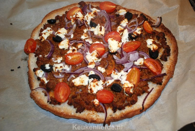 Keukenliefde variant op de Turkse pizza