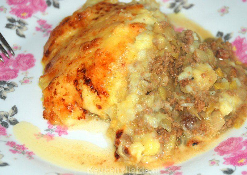 Witlof ovenschotel met mangochutney