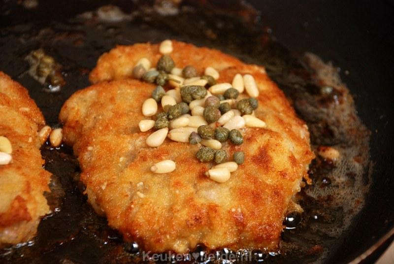 Caponata met kalfsschnitzel