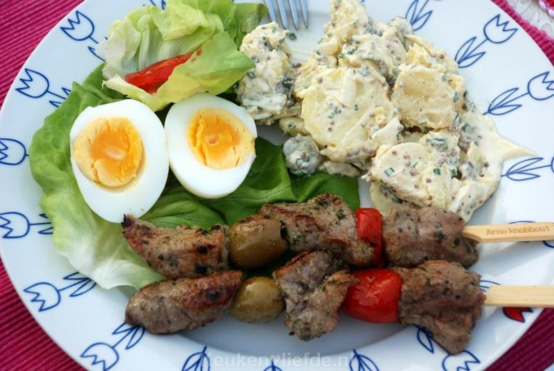 Duitse aardappelsalade met slagroom