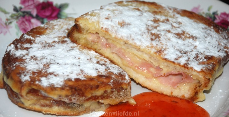 Amerikaanse monte cristo sandwich
