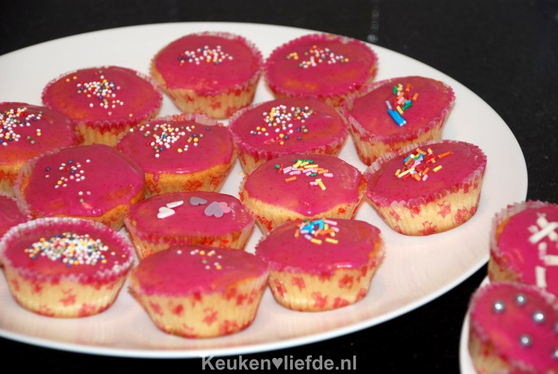 Cupcakes met roze glazuur