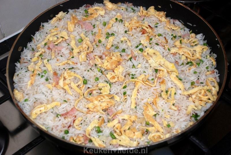 Gebakken Kantonese rijst