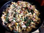 Pasta met spinazie en boursin saus van Marian