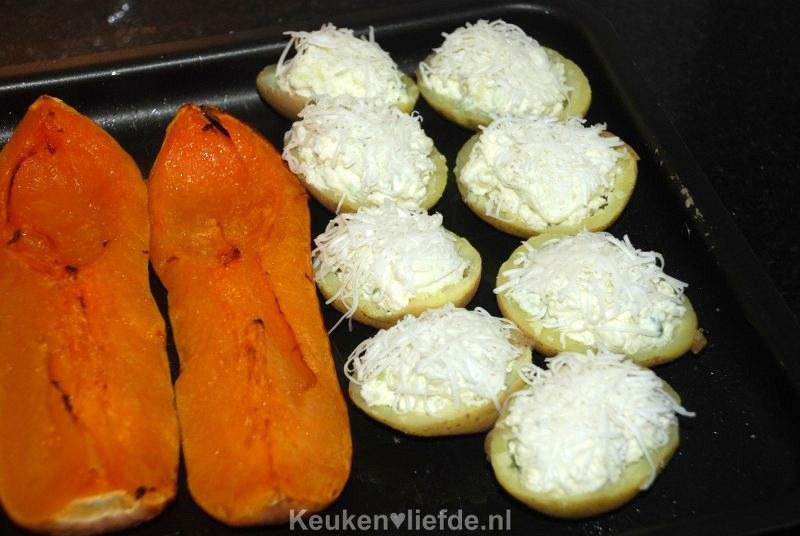 Gevulde aardappels uit de oven