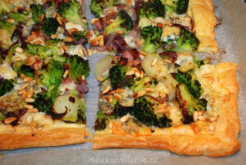 Galette met broccoli, spekjes en gorgonzola dolce