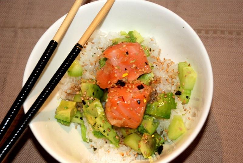 f91d8b872b4 Sushi bowl met mi-cuit zalm - Keuken♥Liefde