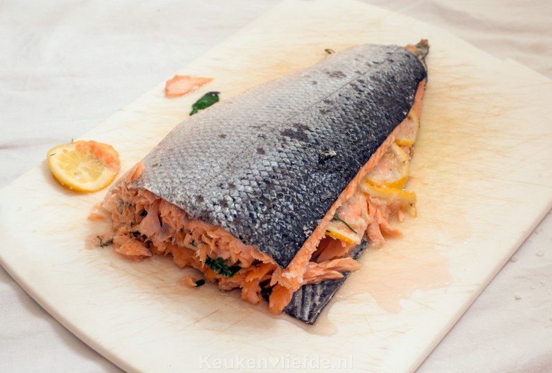 Zalm in zoutkorst