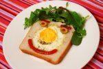 Gebakken broodje ei - Meneertje brood