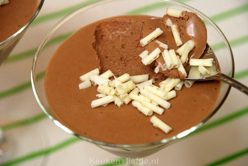 Snelle Nutella chocolademousse