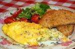 Ham-kaas omelet uit een zak