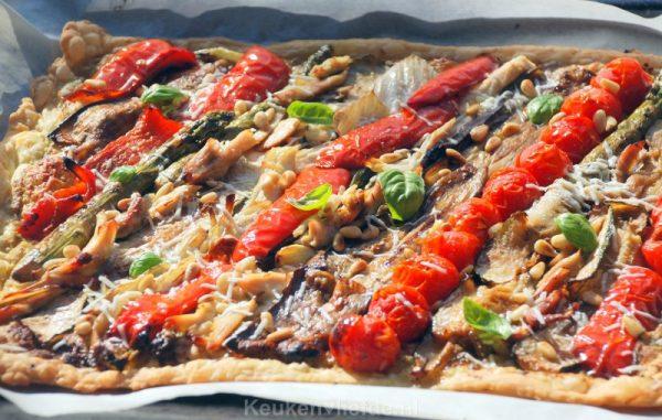 Italiaanse plaattaart met gegrilde groenten