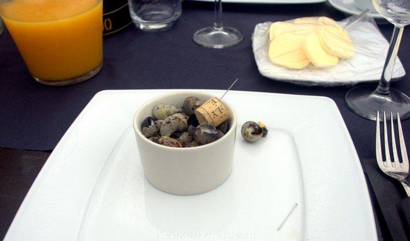 Ontbijt met alikruiken (kreukels)