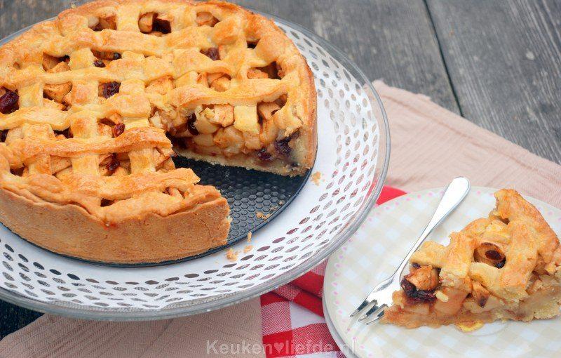 Cranberry-appeltaart