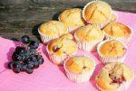 Muffins met blauwe druiven
