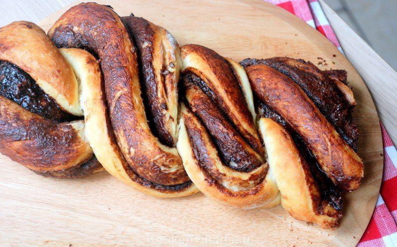 Gevlochten Nutellabrood