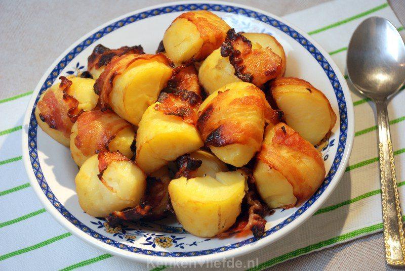 Aardappels met spek uit de oven