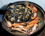 Zeevruchten van de barbecue