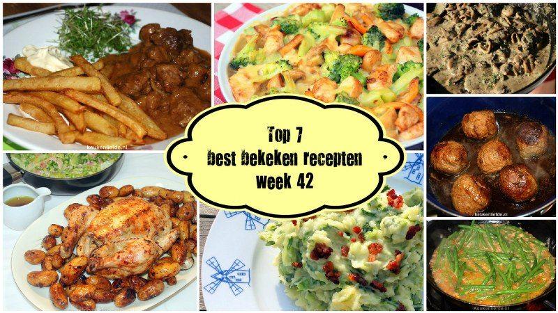 Top 7 best bekeken recepten - week 42