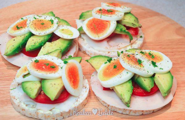 Super healthy ontbijt met rijstwafel