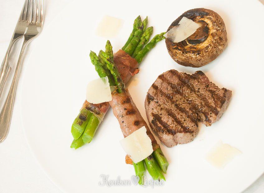 Slank & Snel: Gegrilde biefstuk met asperges