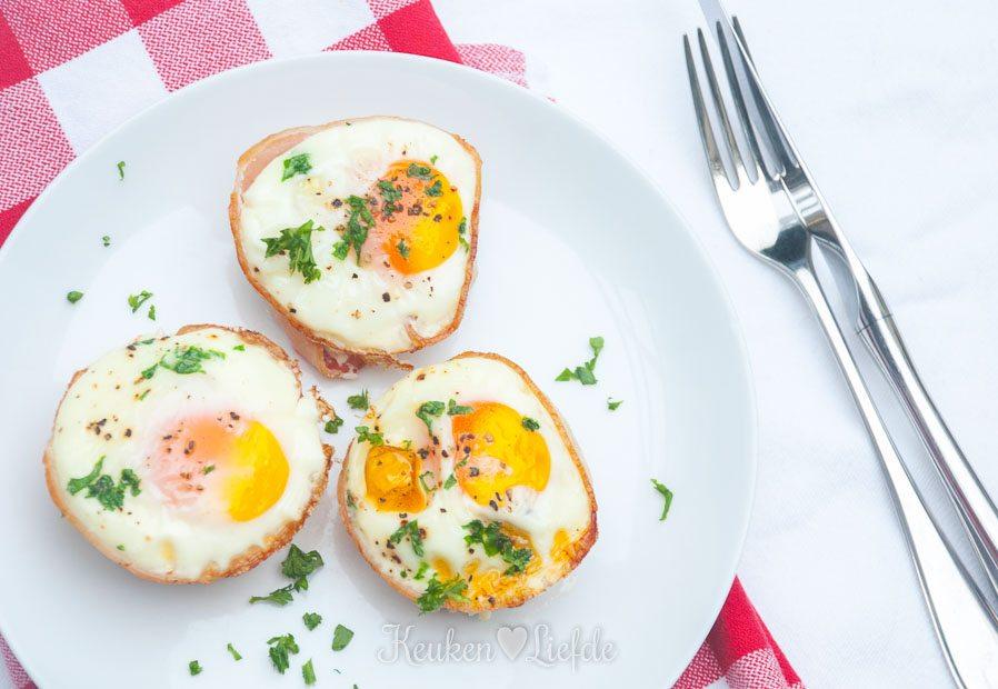 Makkelijk ontbijt: Spek-eimuffins