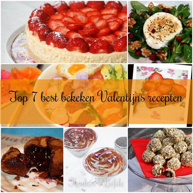 Top 7 best bekeken Valentijnsrecepten