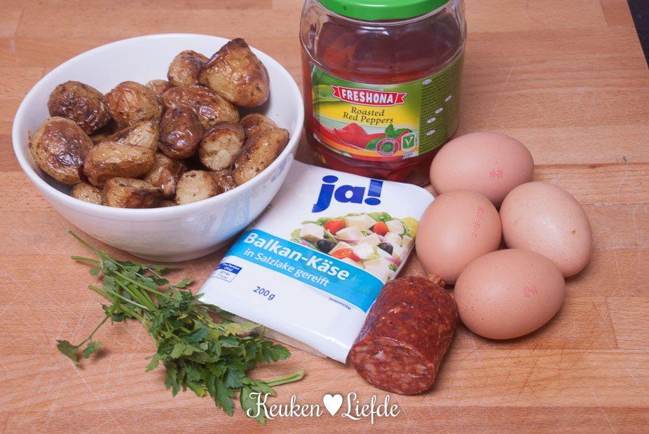 Aardappeltortilla met chorizo en feta-0687