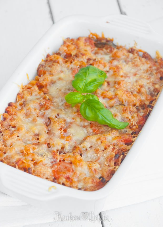 macaroni met courgette