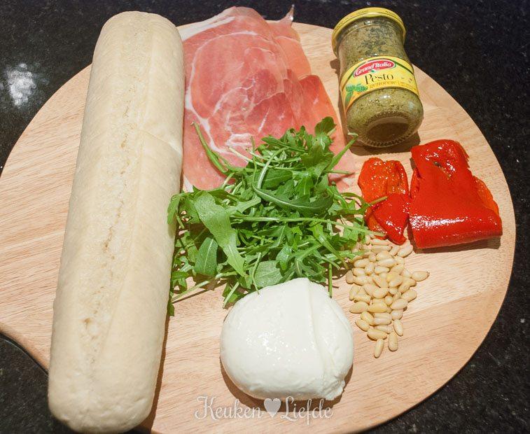 Panini met mozzarella en Parmaham-0180