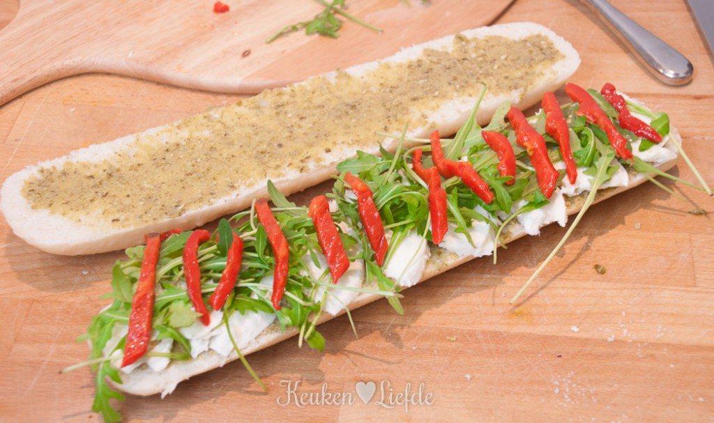 Panini met mozzarella en Parmaham-0183