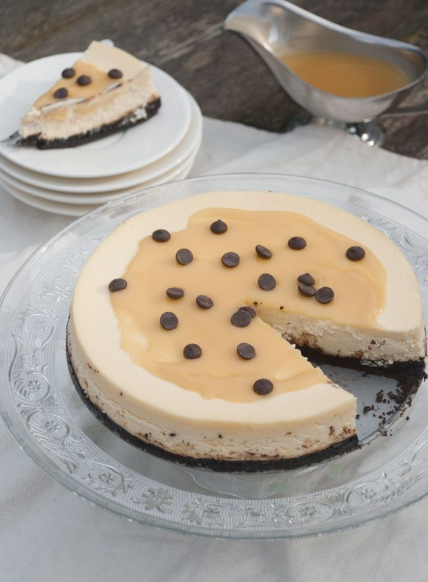 Philadelphia-cheesecake met salted caramel