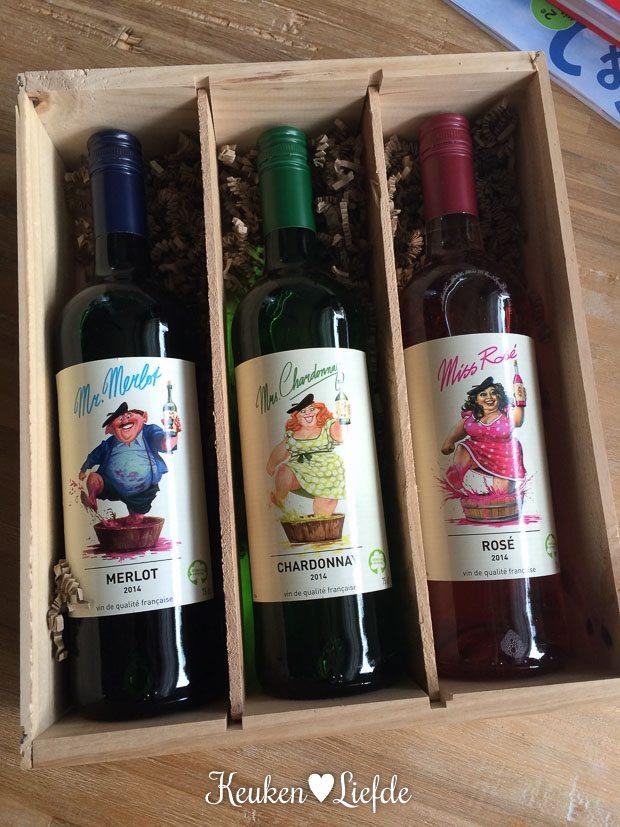 Mr. Merlot,  Mrs. Chardonnay en Miss Rosé  zijn exclusief verkrijgbaar  bij Aldi Supermarkten