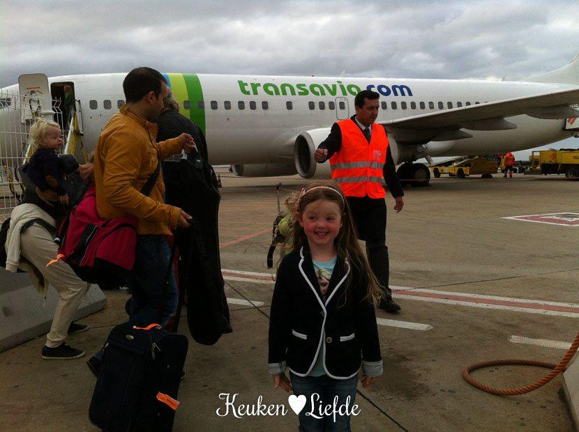Het vliegtuig dat ons weer thuisbrengt.