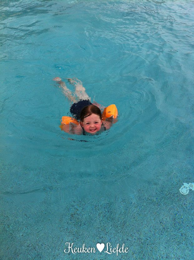 ... Bovendien is het water heerlijk verwarmd.