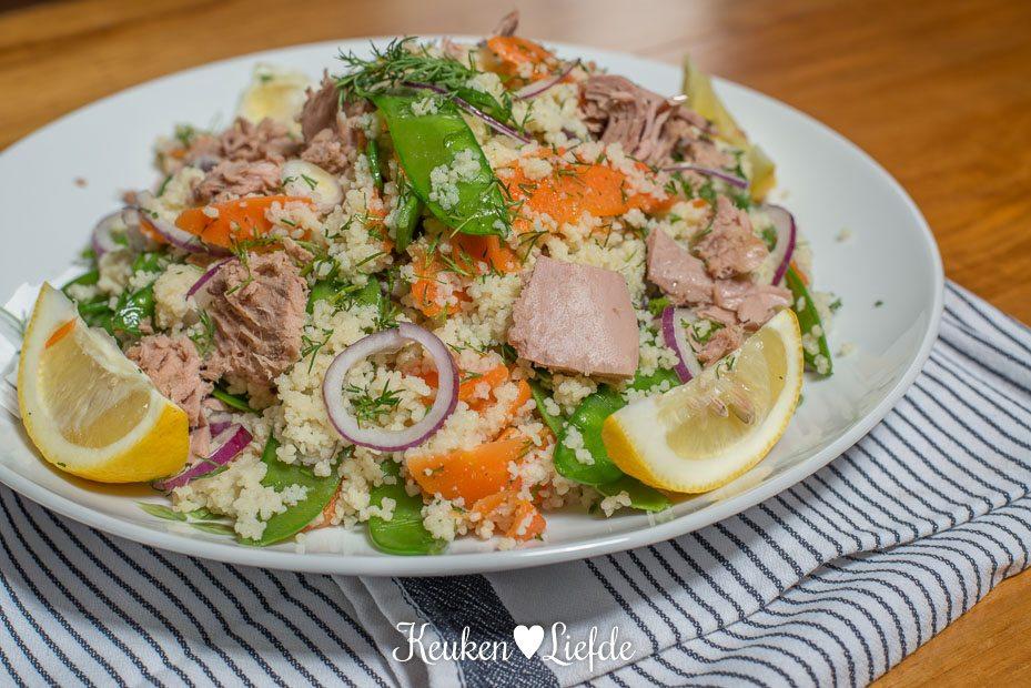 Lekker Snel: couscoussalade met tonijn