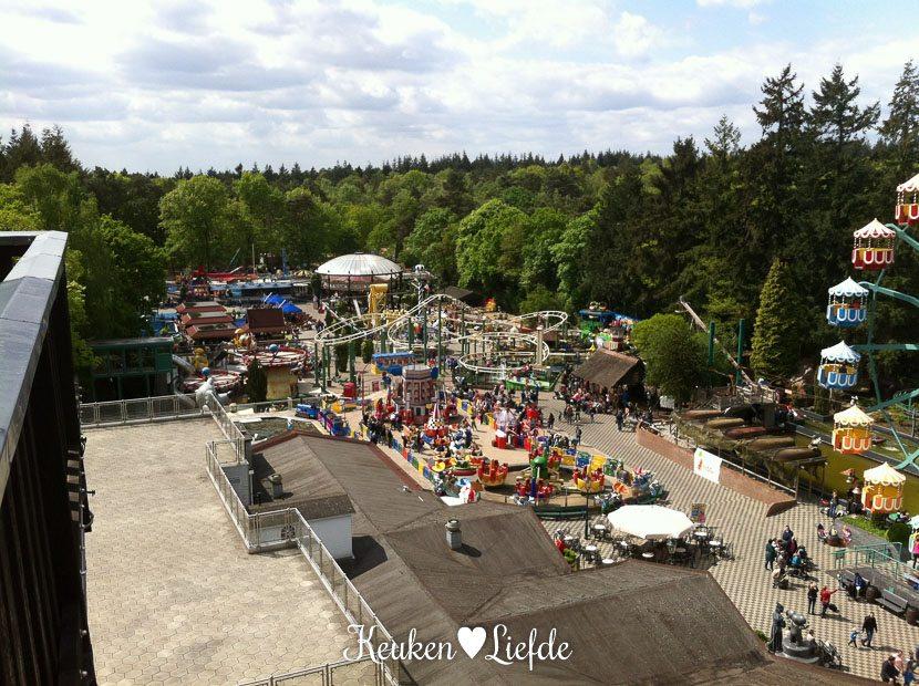 Uitzicht over het park vanaf de Julianatoren