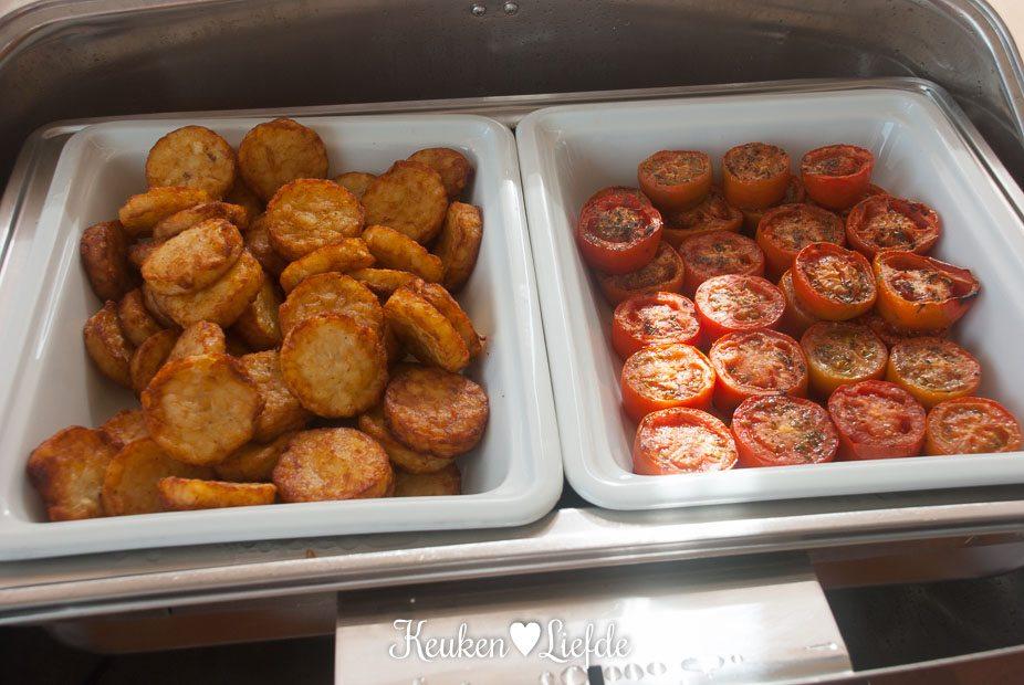 Rosti en gegrilde tomaten