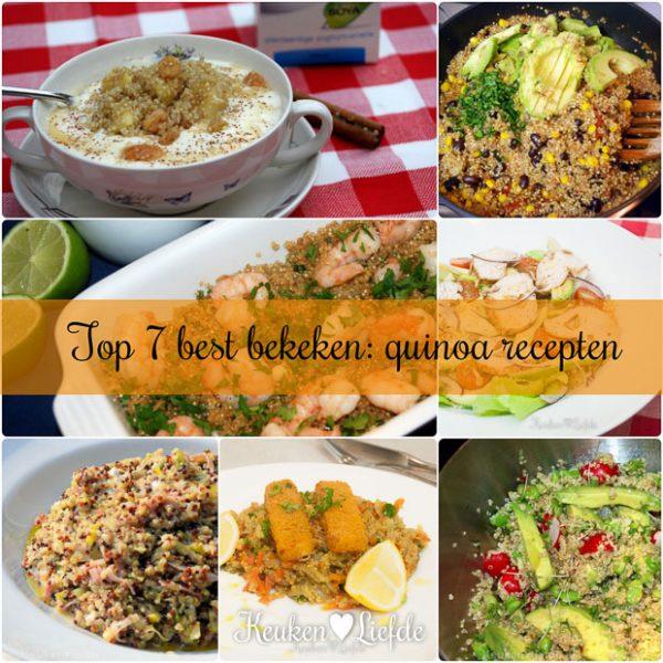 Top 7 best bekeken quinoarecepten