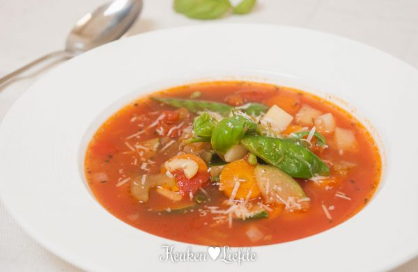 Italiaanse groentesoep: minestrone