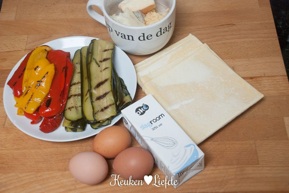Quattro formaggi quiche met gegrilde groenten-3322