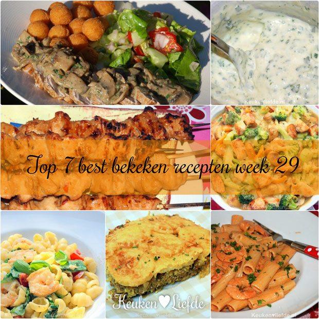 Top 7 best bekeken recepten week 29