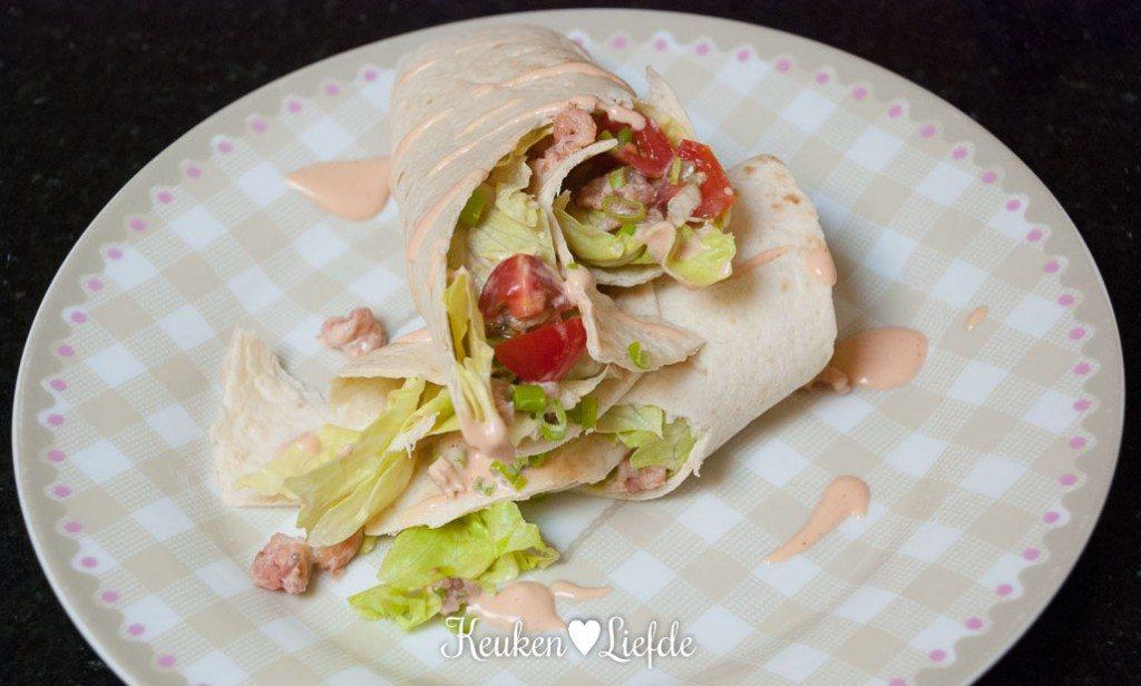 Lunchwrap met Hollandse garnaal