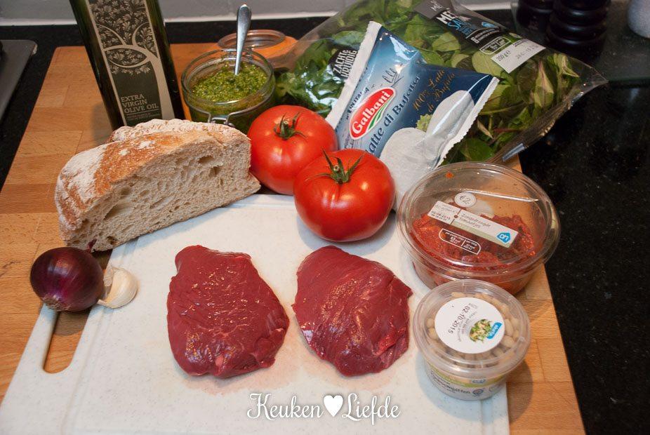 Caprese salade met biefstuk-4485